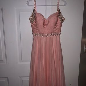sherri hill blush pink prom dress